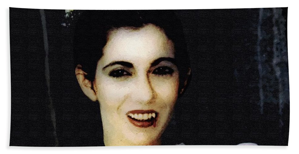 Portrait Bath Sheet featuring the painting Vampire Bride by RC DeWinter