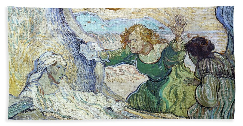 1890 Hand Towel featuring the photograph Van Gogh: Lazarus by Granger