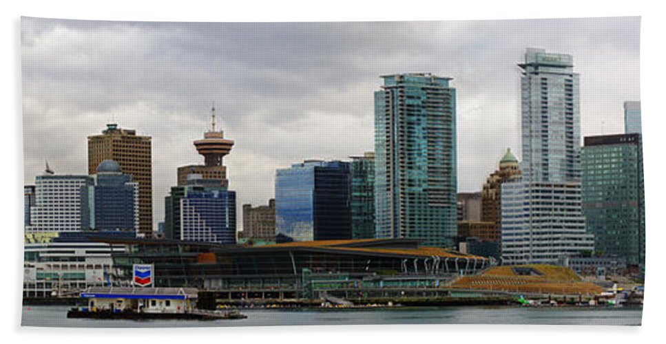 Vancouver Bath Sheet featuring the photograph Vancouver Panorama by Randy Harris