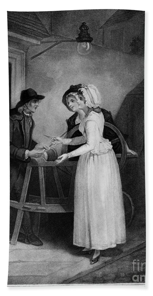 1795 Hand Towel featuring the photograph Vendramini: London, 1795 by Granger