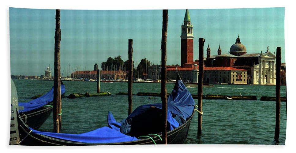 Italy Bath Sheet featuring the photograph Venetian Gandola by La Dolce Vita