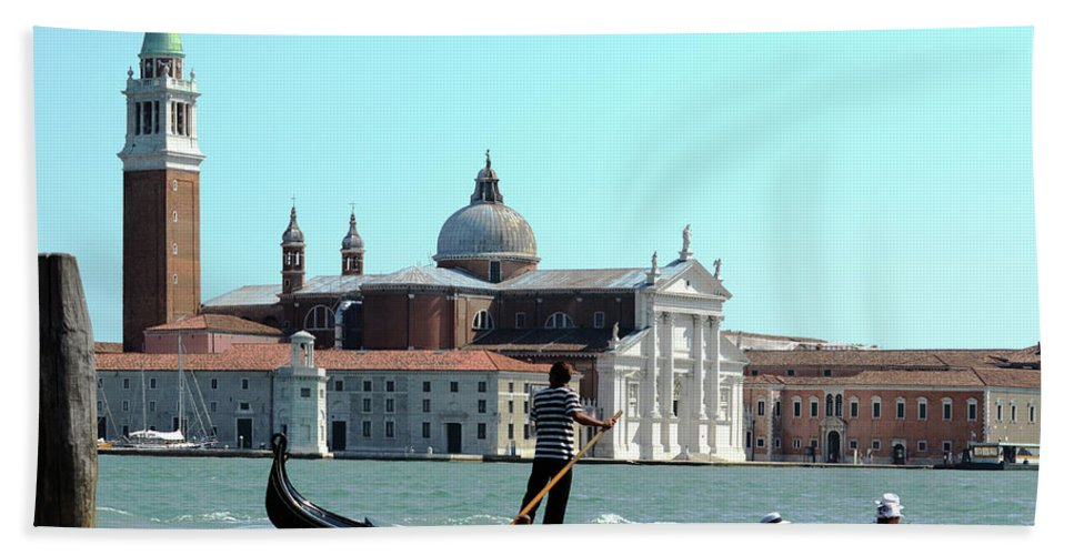 Venice Hand Towel featuring the photograph Venice From A Gandola by La Dolce Vita