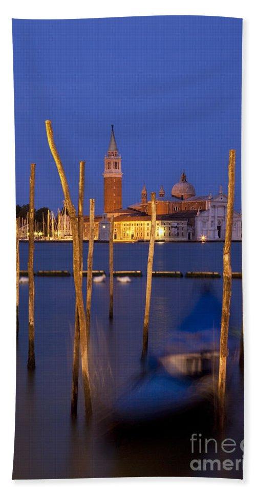 San Giorgio Bath Sheet featuring the photograph Venice Night by Brian Jannsen