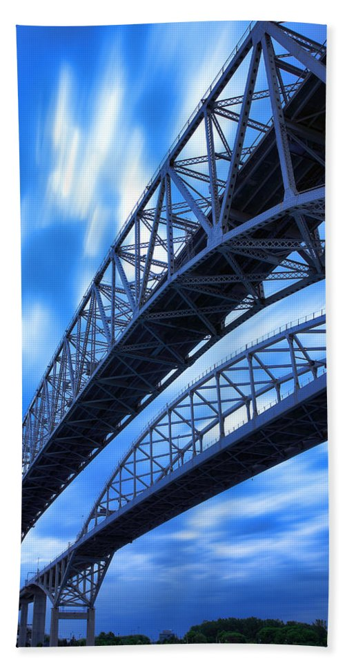 Port Bath Sheet featuring the photograph Very Blue Water Bridge by Gordon Dean II