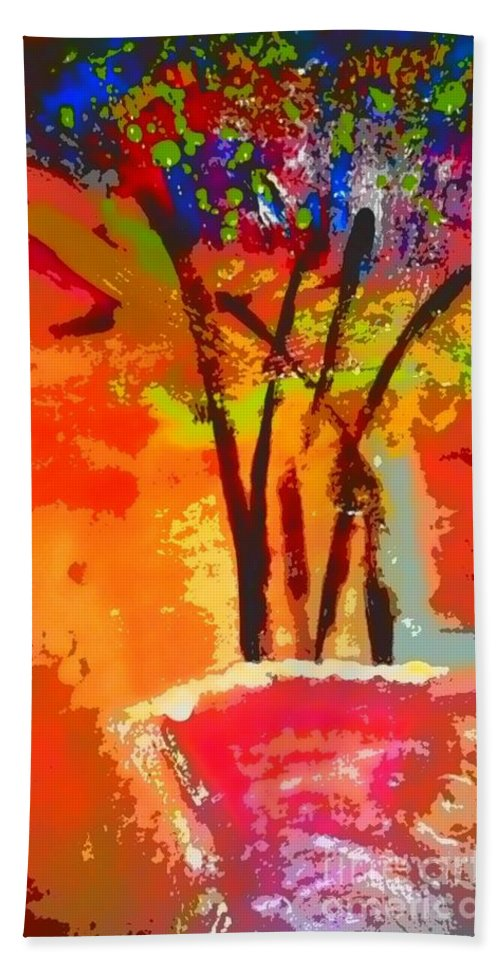 Greeting Cards Hand Towel featuring the digital art Vibrant Bouquet by Angela L Walker