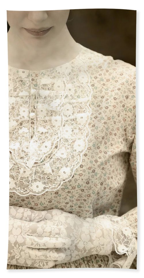 Female Hand Towel featuring the photograph Victorian Dress by Joana Kruse