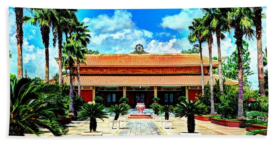 Buddhist Hand Towel featuring the photograph Vietnamese Buddhist Temple by David Morefield