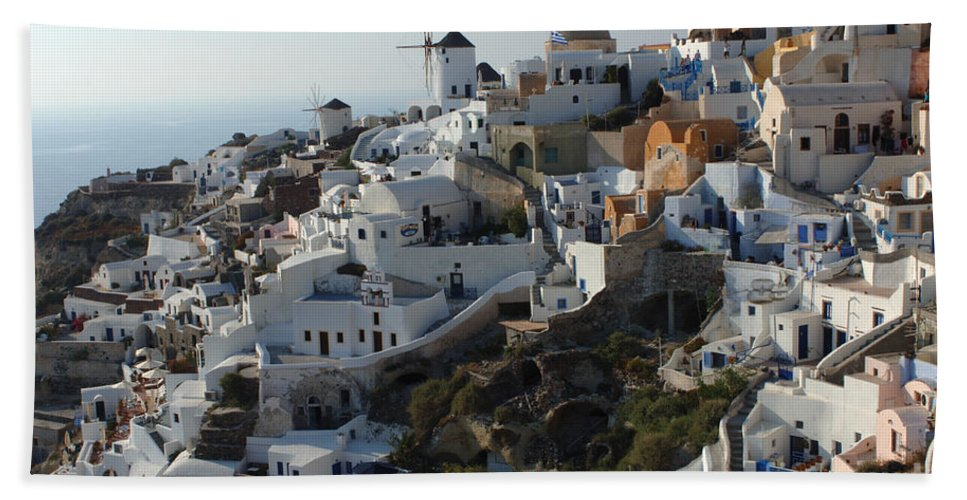 The Edge Bath Sheet featuring the photograph View At Iao Greece by Bob Christopher