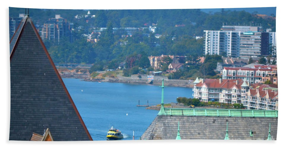 British Columbia Hand Towel featuring the photograph View From A Window by Traci Cottingham