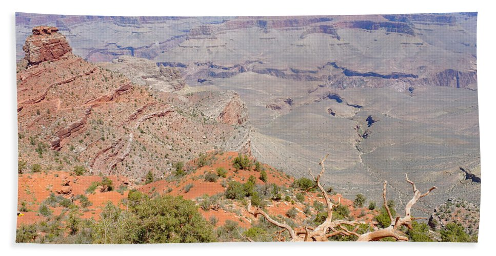 View Bath Sheet featuring the photograph View From The South Kaibab Trail II by Julie Niemela