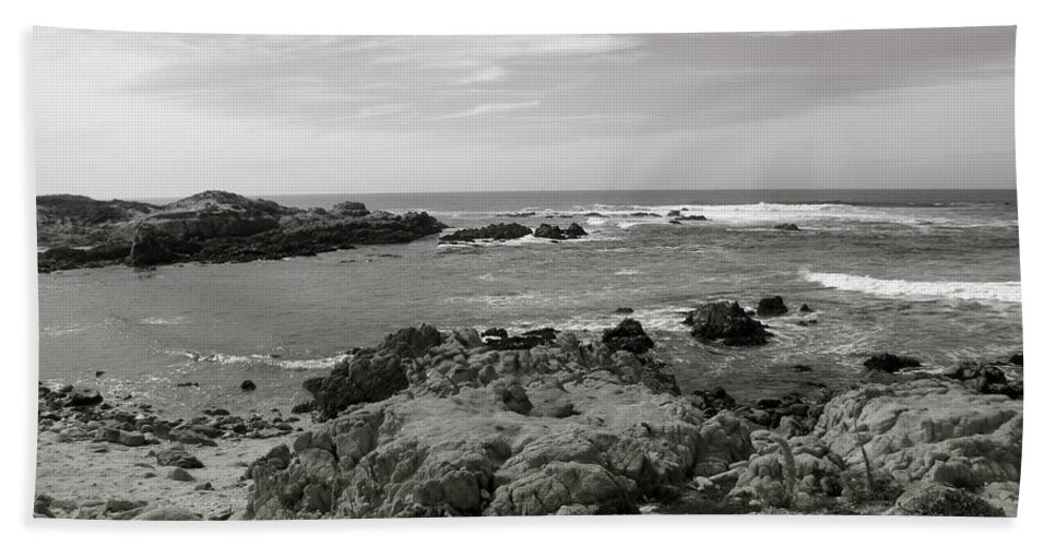 Ocean Bath Sheet featuring the photograph View Of The Cove by Kathleen Grace
