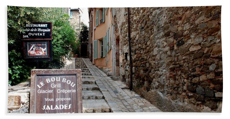 Provence Hand Towel featuring the photograph Village Alley by Dany Lison