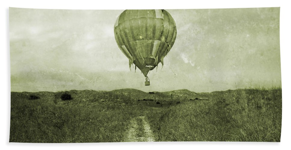 Hot Hand Towel featuring the photograph Vintage Ballooning by Betsy Knapp