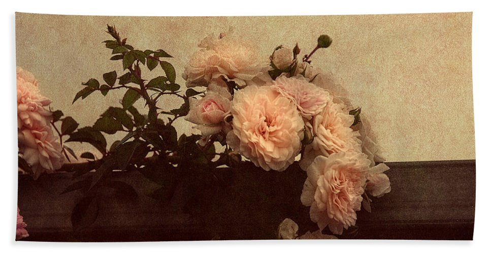 Vintage Roses Hand Towel featuring the photograph Vintage Roses by Georgiana Romanovna