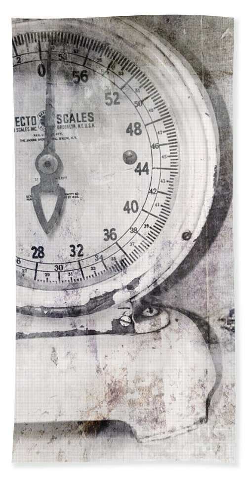 Scale Bath Sheet featuring the photograph Vintage Scale 2 by Traci Cottingham