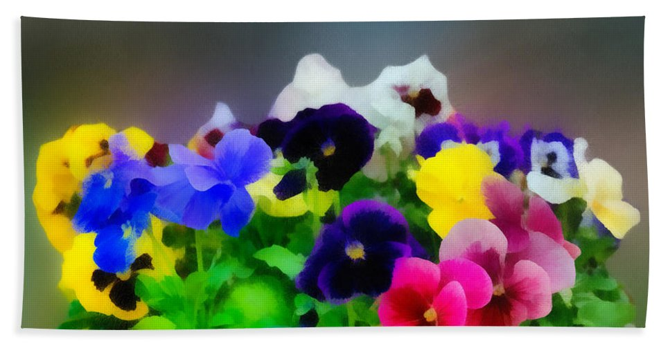 Art Hand Towel featuring the photograph Viola Tricolor Heartsease by Michael Goyberg