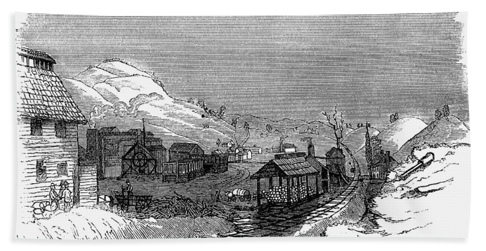 1857 Bath Sheet featuring the photograph Virginia: Salt Mine, 1857 by Granger