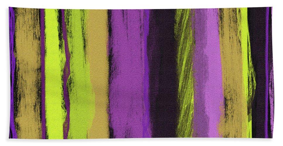 Line Bath Sheet featuring the painting Visual Cadence V by Julie Niemela