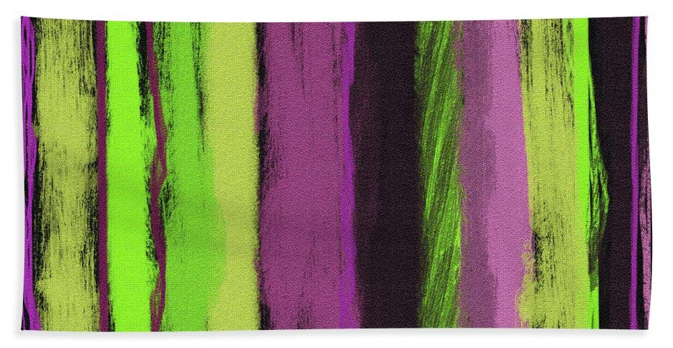 Line Bath Sheet featuring the painting Visual Cadence Viii by Julie Niemela