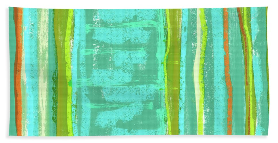 Line Bath Sheet featuring the painting Visual Cadence Xiii by Julie Niemela