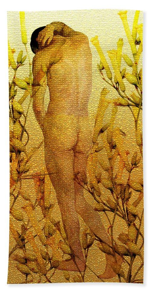 Nude Bath Sheet featuring the photograph Vital Solitude by Kurt Van Wagner