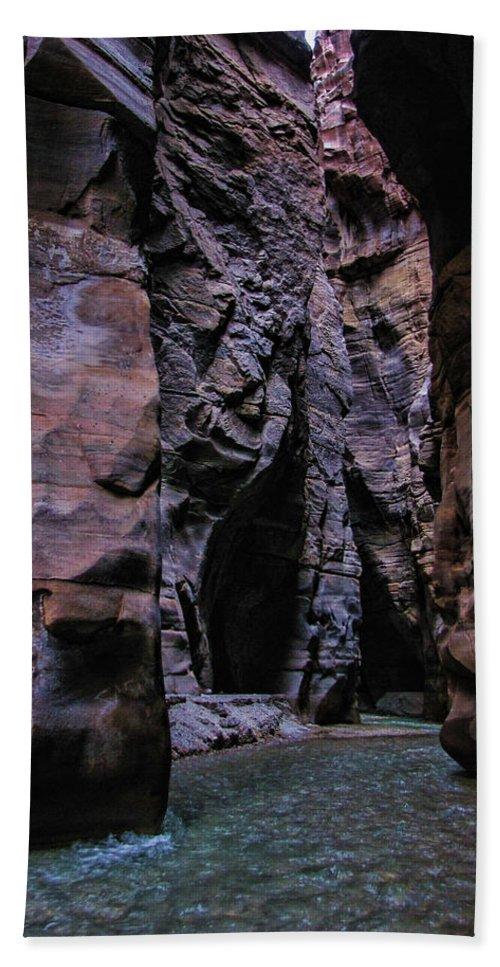 Mujib Hand Towel featuring the photograph Wadi Mujib Jordan by David Gleeson