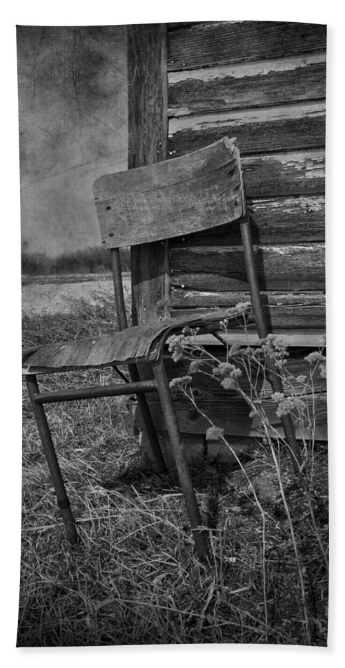 Chair Bath Sheet featuring the photograph Waiting For Rain by The Artist Project