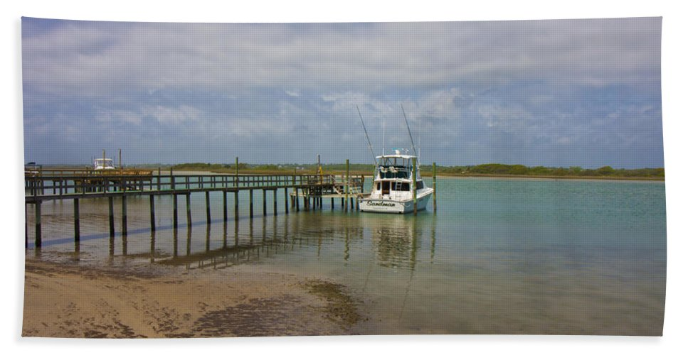 Topsail Bath Sheet featuring the photograph Waiting On The Captain by Betsy Knapp