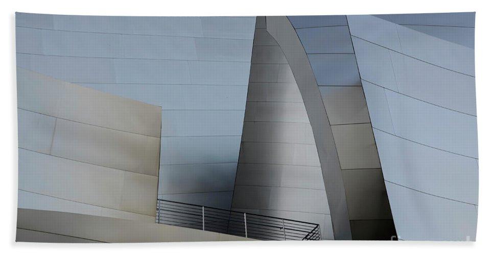Disney Hand Towel featuring the photograph Walt Disney Concert Hall 2 by Bob Christopher