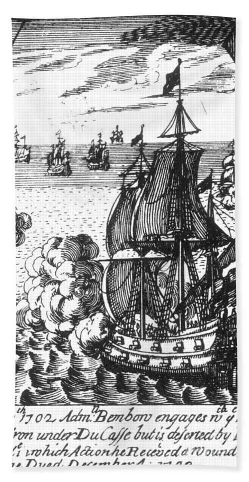 1702 Bath Sheet featuring the photograph War Of Spanish Succession by Granger