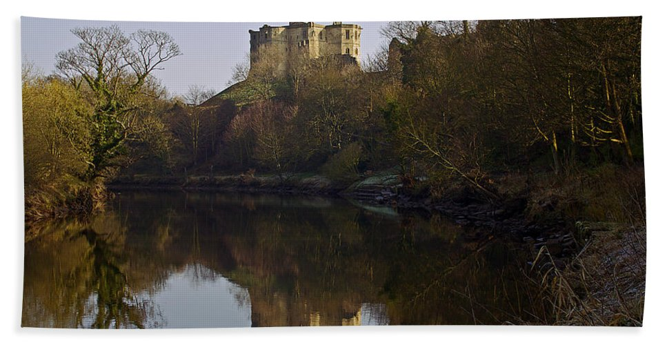 Warkworth Castle Hand Towel featuring the photograph Warkworth Castle by David Pringle