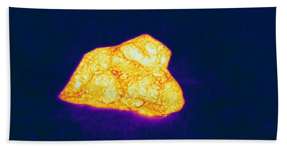 Thermogram Hand Towel featuring the photograph Warm Meteorite by Ted Kinsman
