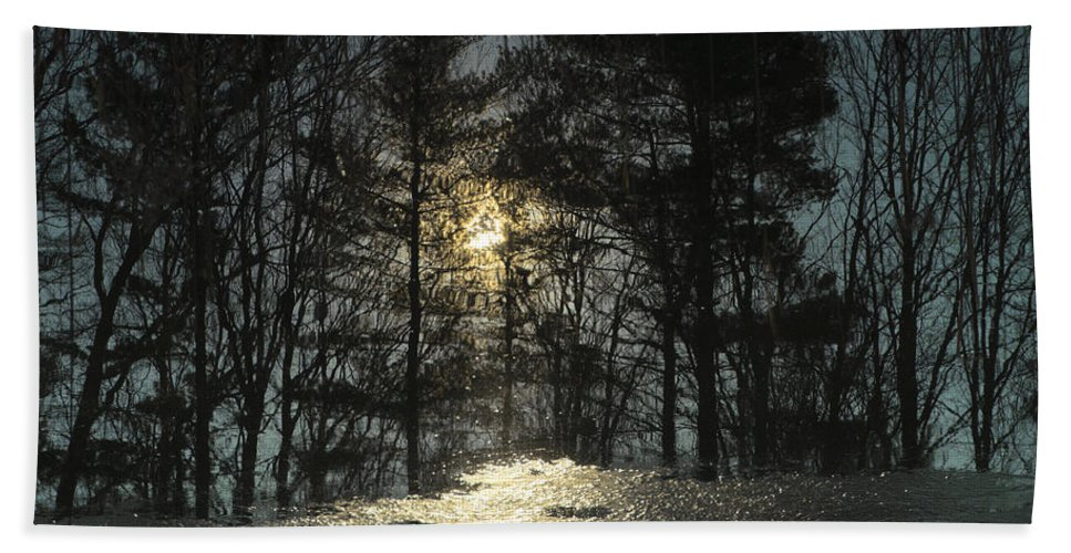 Usa Bath Sheet featuring the photograph Warmth Above Icy Reflections by LeeAnn McLaneGoetz McLaneGoetzStudioLLCcom