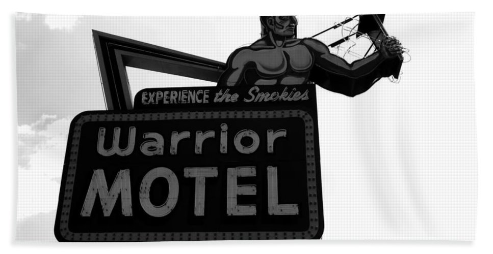 Warrior Motel Hand Towel featuring the photograph Warrior Motel by David Lee Thompson