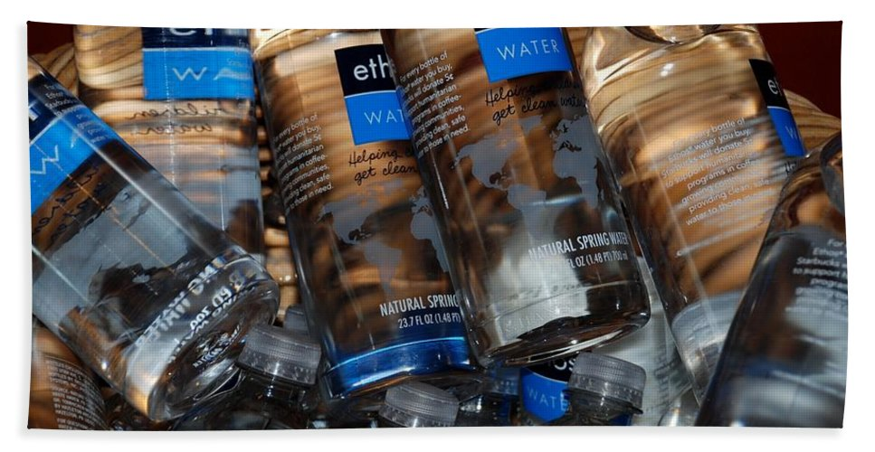 Water Bottles Hand Towel featuring the photograph Water Bottles by Rob Hans