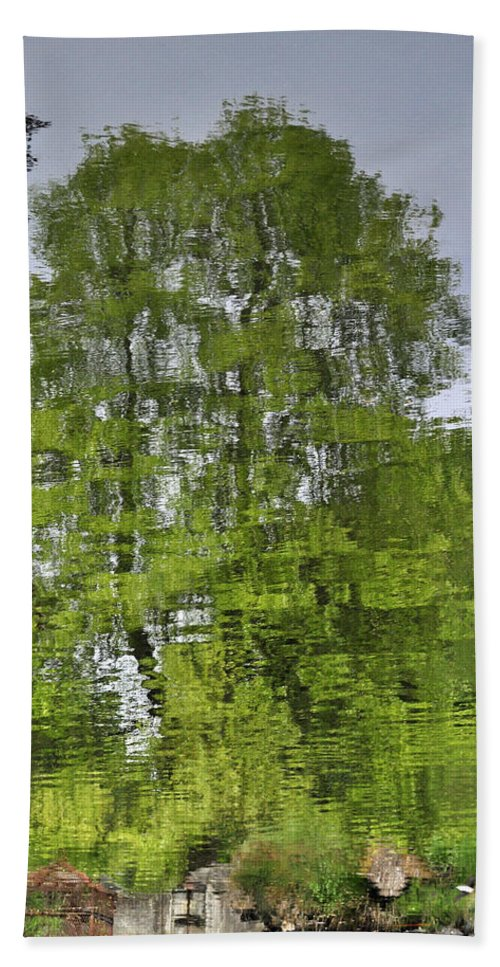 Pond Bath Sheet featuring the photograph Water Color Reflections by Tikvah's Hope