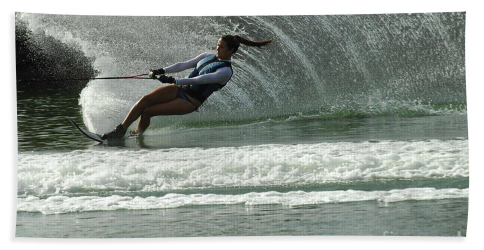Water Skiing Bath Sheet featuring the photograph Water Skiing Magic Of Water 9 by Bob Christopher