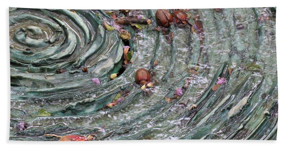 Water Spiral Bath Sheet featuring the photograph Water Spiral by Douglas Barnard