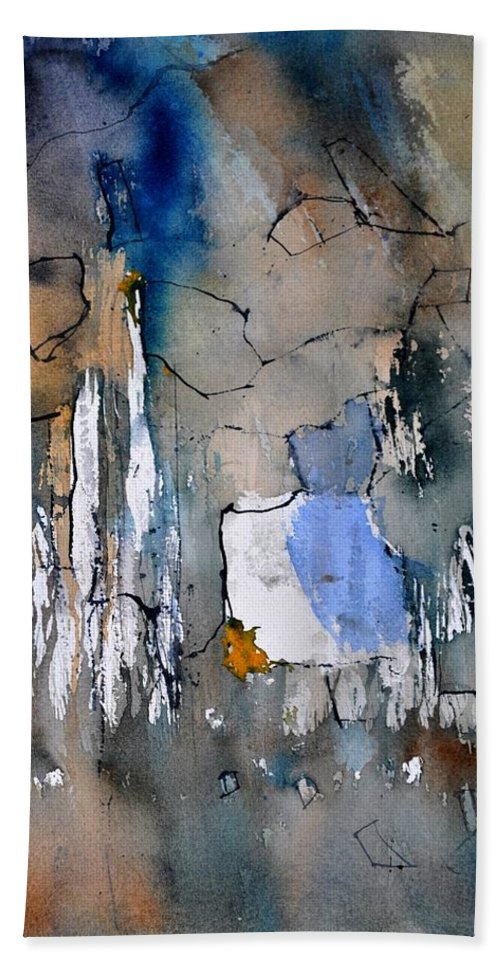 Abstract Bath Sheet featuring the painting Watercolor213030 by Pol Ledent