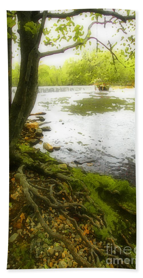 Digital Bath Sheet featuring the photograph Watercolours 128 by Mike Nellums