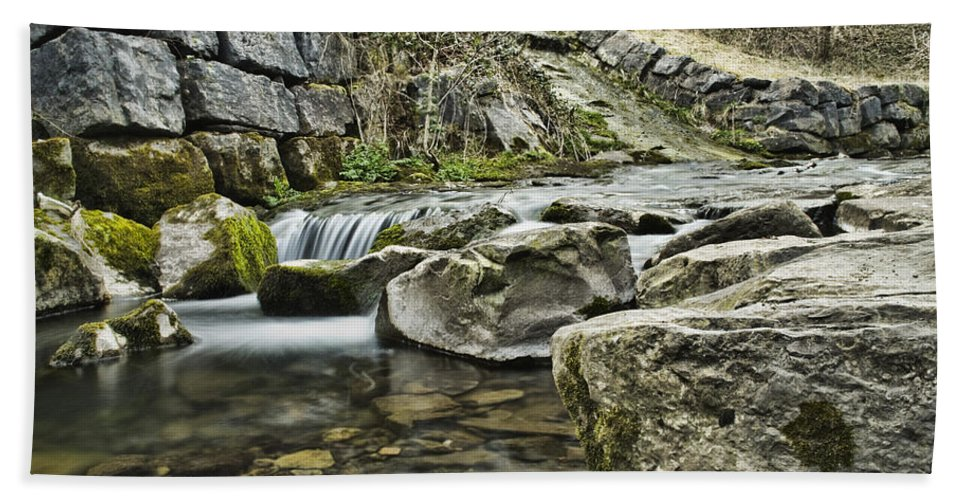 Waterfall Hand Towel featuring the photograph Waterfall by Steve Purnell