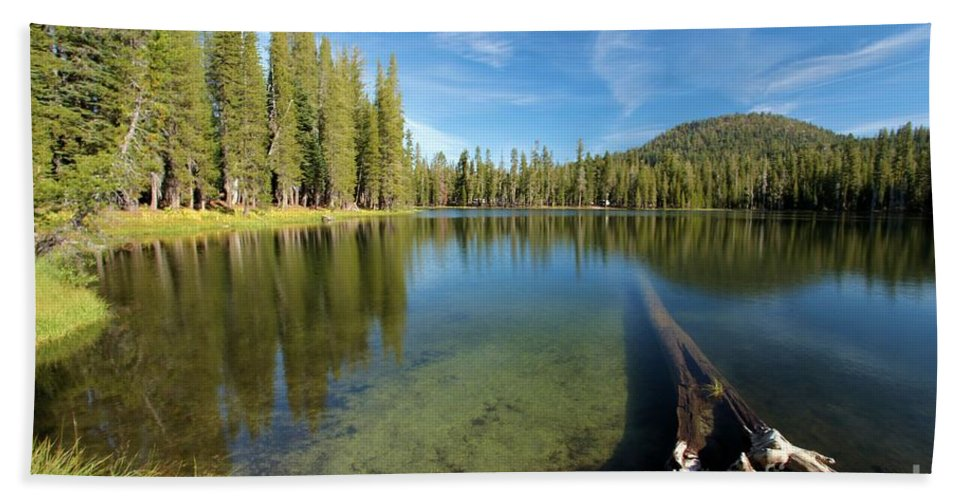 Summit Lake Bath Sheet featuring the photograph Waterlogged by Adam Jewell