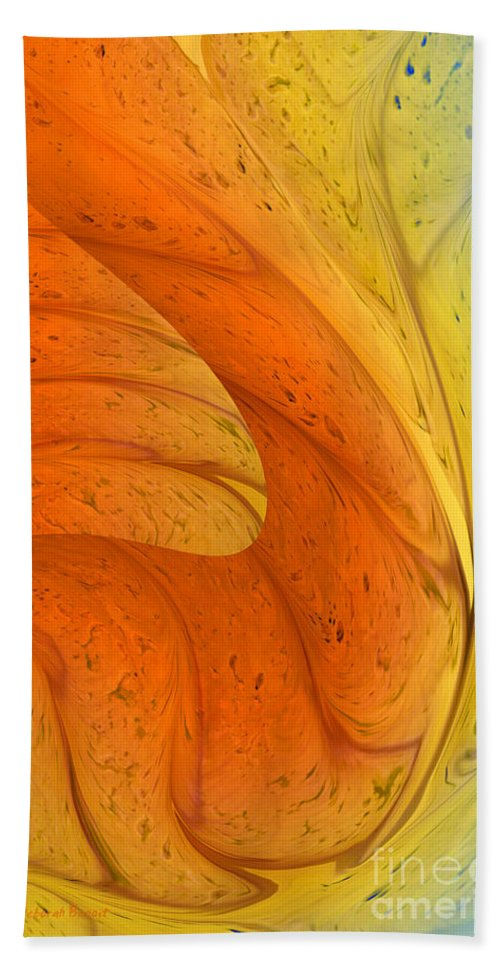 Abstract Bath Sheet featuring the digital art Waves Of Sanity by Deborah Benoit