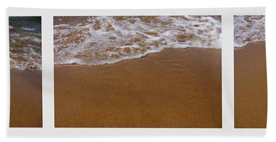 Waves Bath Sheet featuring the photograph Waves Triptych by Michelle Calkins