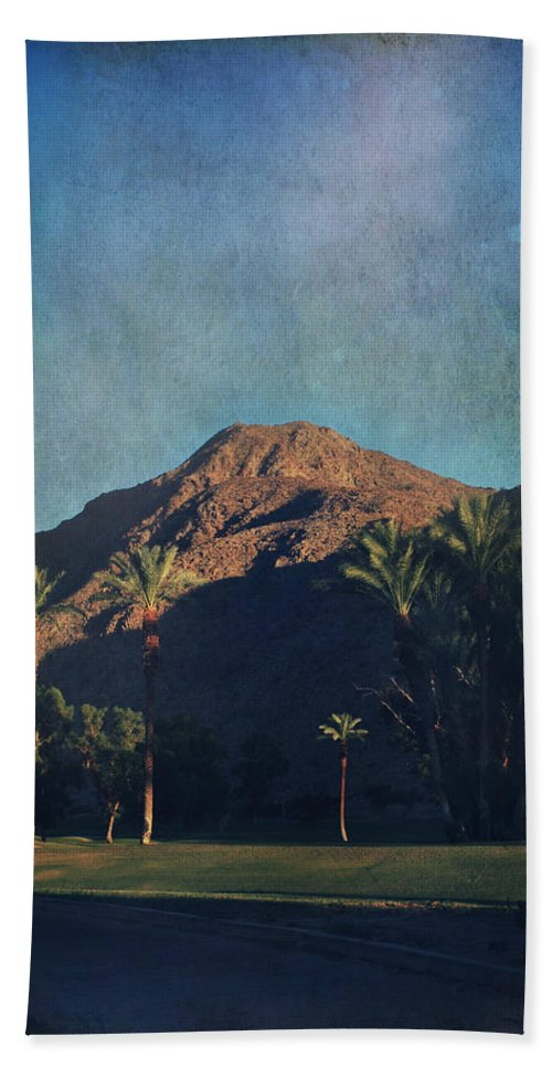 Indian Wells Hand Towel featuring the photograph We Live In Shadows by Laurie Search
