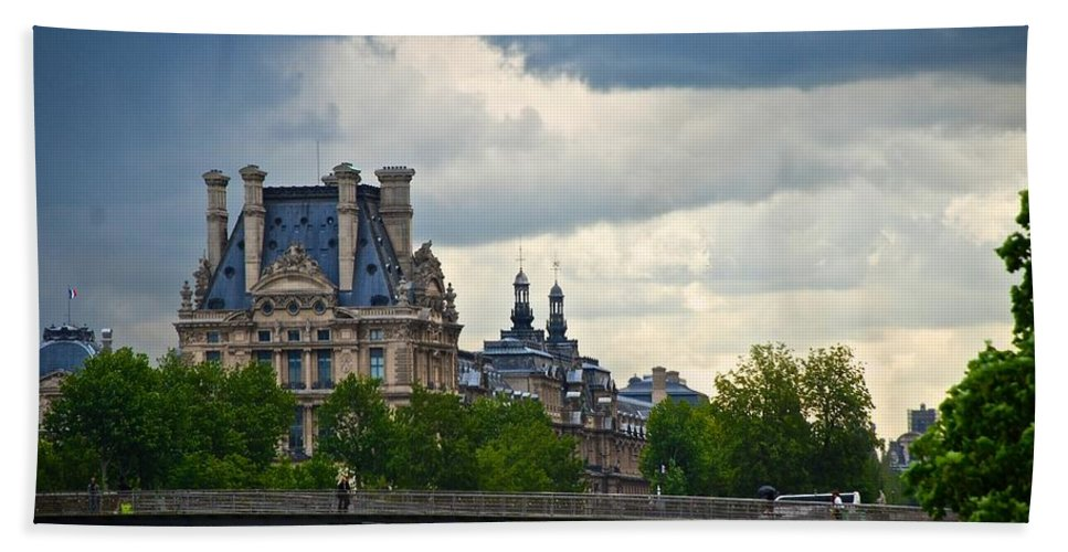 Paris Hand Towel featuring the photograph Weather In Paris by Eric Tressler