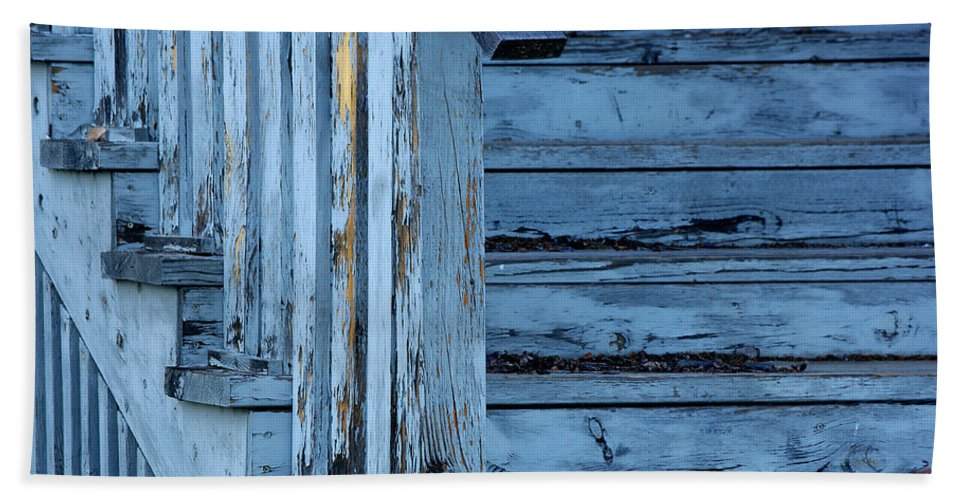 Photograph Bath Sheet featuring the photograph Weathered Blue by Vicki Pelham