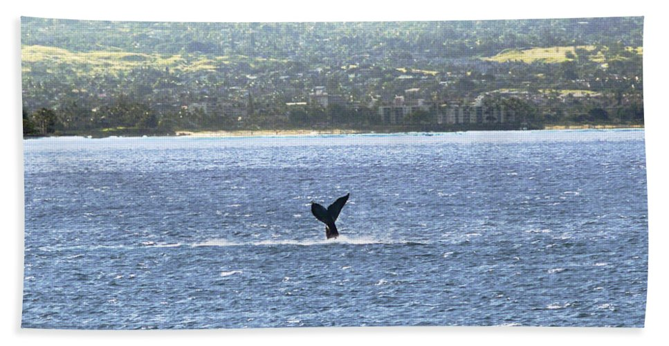 Fine Art Photography Bath Sheet featuring the photograph Whale Tail II by Patricia Griffin Brett