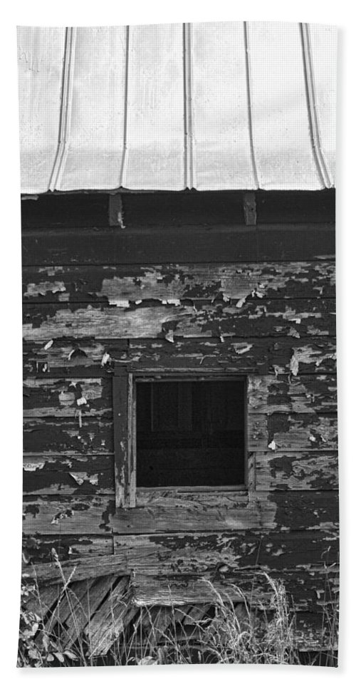 Barn Hand Towel featuring the photograph What Lies Within by Kathy Clark
