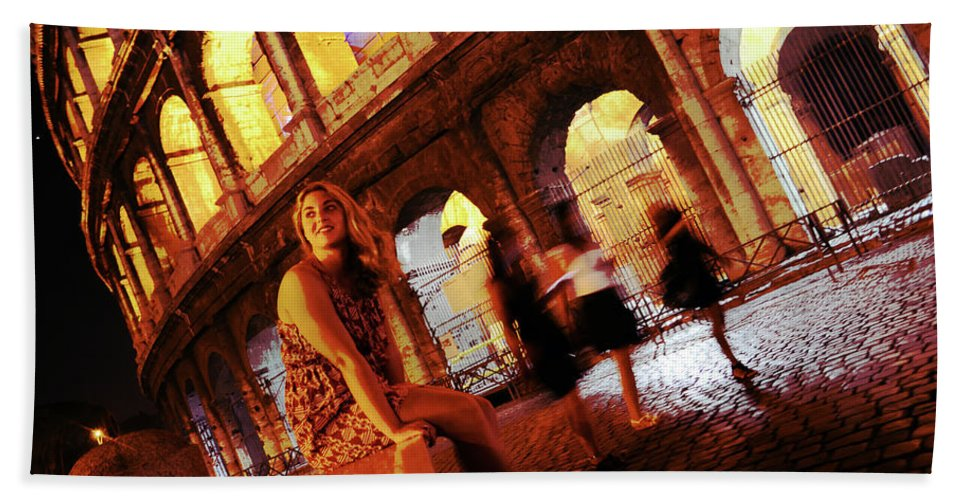 Rome Bath Sheet featuring the photograph When In Rome by La Dolce Vita